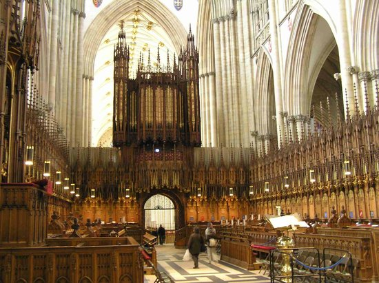 Cathédrale d'York : A view of the Nave and the Organ