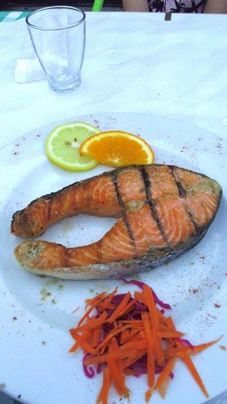 O Colonial Restaurante : grilled salmon