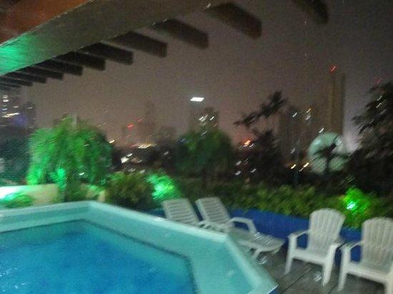 Hotel California: la pizina en la terraza