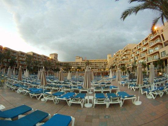 ClubHotel Riu Buena Vista : Sunbeds - very close together