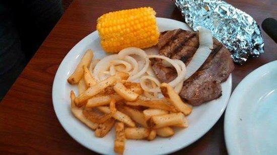 Sirloin Stockade: Steak and fries
