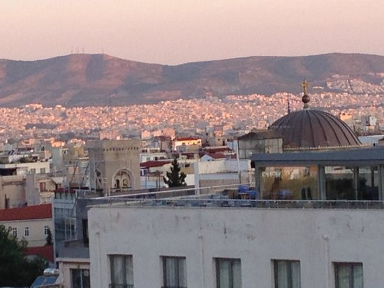 Electra Palace Athens: early morning Athens from our room