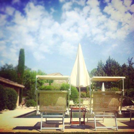 La Ferme de la Huppe: vista da piscina