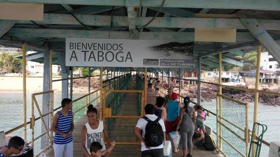 Taboga Island Beaches : Entrada a la isla, hay revision por la policia, no armas ni drogas.