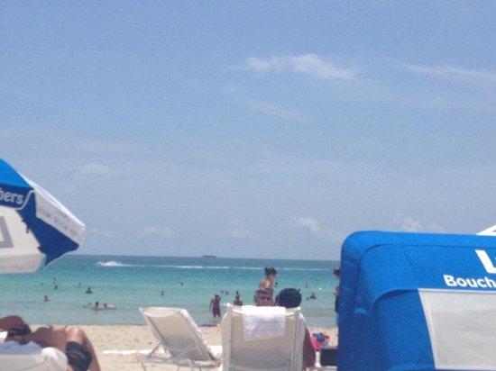 Loews Miami Beach Hotel: Área na praia reservada do hotel