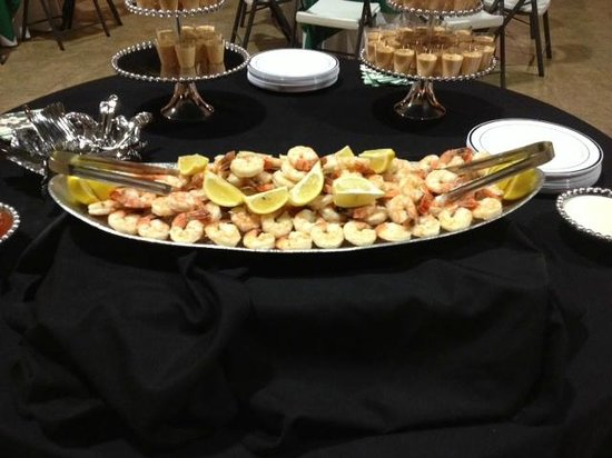 Char Restaurant: Shrimp display for an off-site catered event