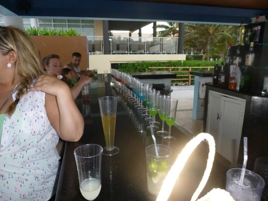 Now Jade Riviera Cancun: Rainbow shots