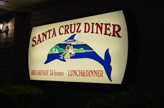 Santa Cruz Diner: Sign