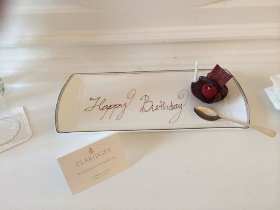 Claridge's : Nice touch!