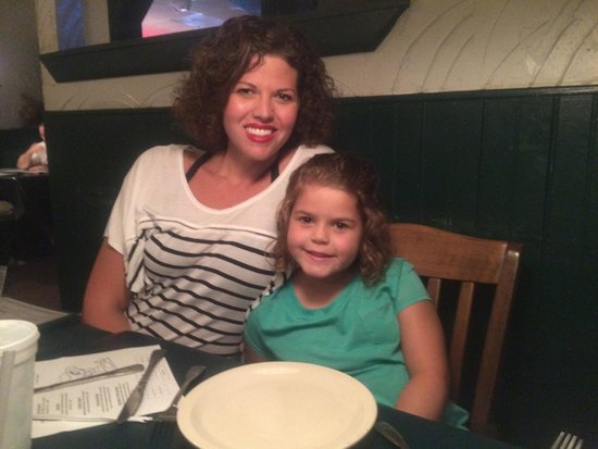 Best Italian Cafe & Pizzeria: My daughter and I at Best Italian. July 2014.