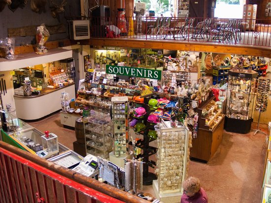 Lost River Caverns: The gift shop