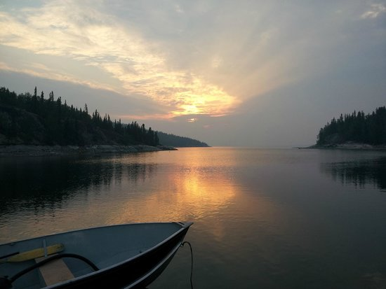 Yellow Dog Lodge: Sunset on June 21