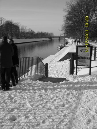 Museum Gardens: River Bankside covered in Snow
