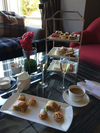 Cameron House on Loch Lomond: The full sparkling Afternoon Tea for two by the window