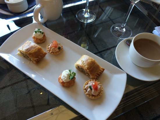 Cameron House on Loch Lomond: Savoury starters for Afternoon Tea