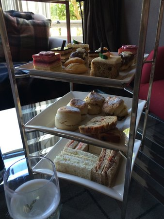 Cameron House on Loch Lomond: Zoomed in view of the three tier Afternoon Tea