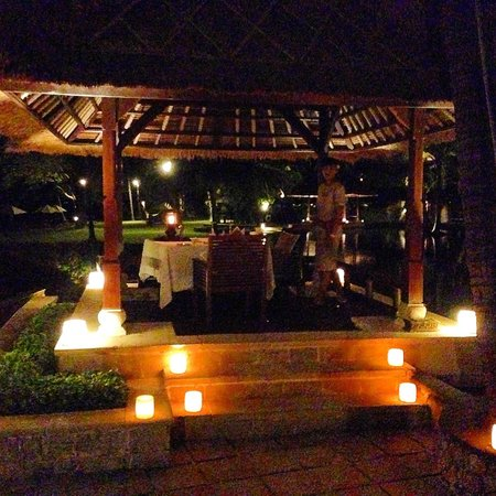 The Oberoi, Lombok: Our final night's private dinner
