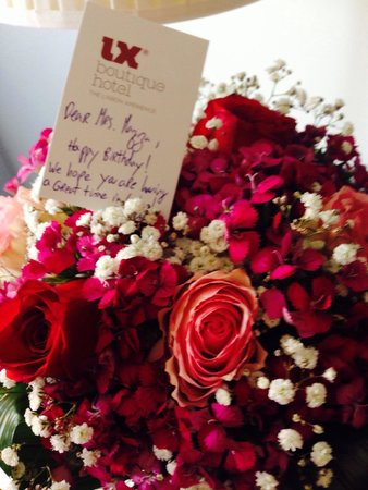 LX Boutique Hotel : Flowers 4 my birthday