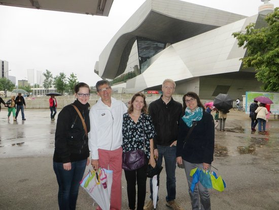 BMW Welt: our group