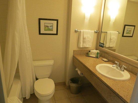 Hilton Vancouver Metrotown: Bathroom, room 1704 (executive floor)