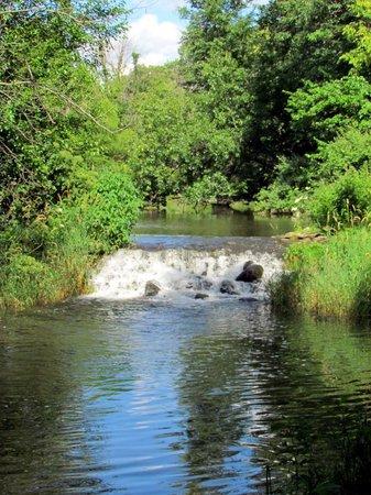 Bonneyville Mill County Park : Great little fall on Little Elkhart River