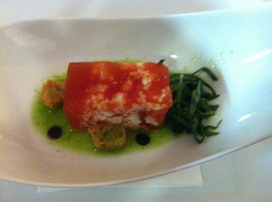 Don Carlos Alicante: Dulce de tomate y queso de cabra (Celeste)