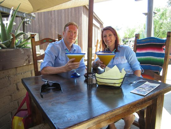 El Patio De Old Town: Me And Tim With A Very Yummy Mango Margarita