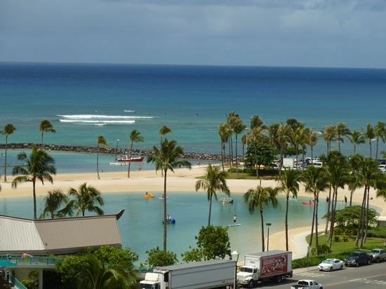 The Modern Honolulu : View from our room (zoomed in)