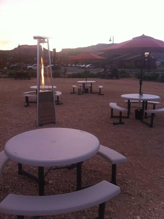 Cowboy Grill: Outdoor Seating Beautiful Views
