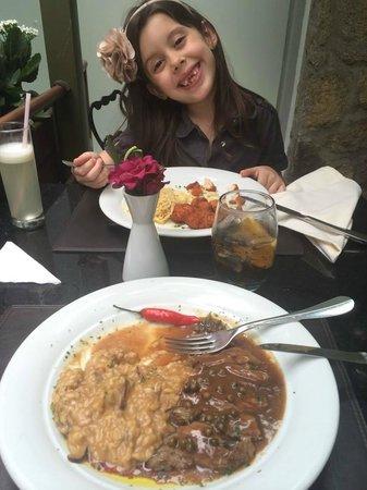 L'Amitie: Risoto com steak ao poivre!