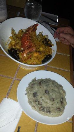 Calizo Restaurant: Seafood Paella with truffle potatoes