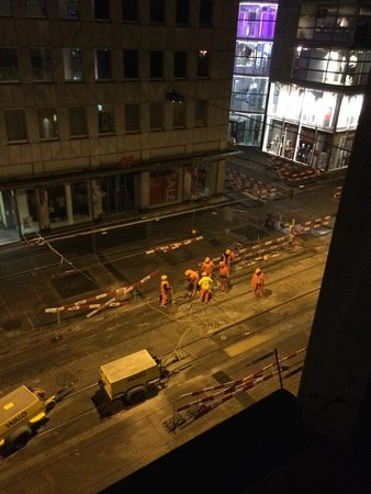 Hotel St. Gotthard: 2am, jackhammers outside the window.