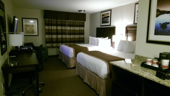 Ramada Creston: Layout of the typical room