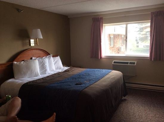 Bangor Inn & Suites: king bed...very comfy and clean!