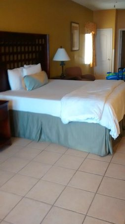 La Copa Inn Beach Hotel : king sized bed