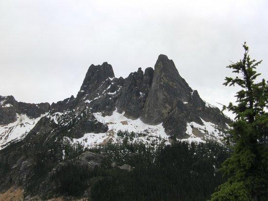 Washington Pass Overlook: Mountain Views from Overlook