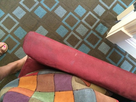 Hotel Shattuck Plaza: worn and dirty armrests