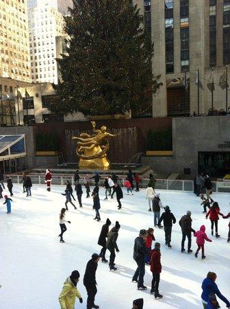 Rockefeller Center : Pista