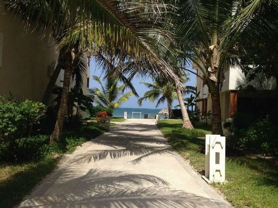 Now Sapphire Riviera Cancun : Our walk to the beach