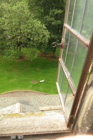 Langley Castle Hotel: The view from the Cadwallader room.