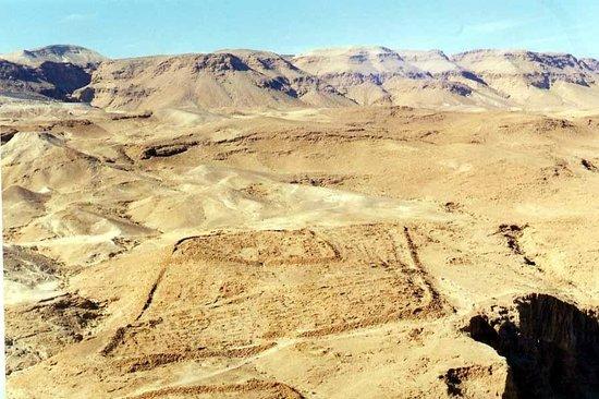 Masada National Park: Remains of a Roman encampment