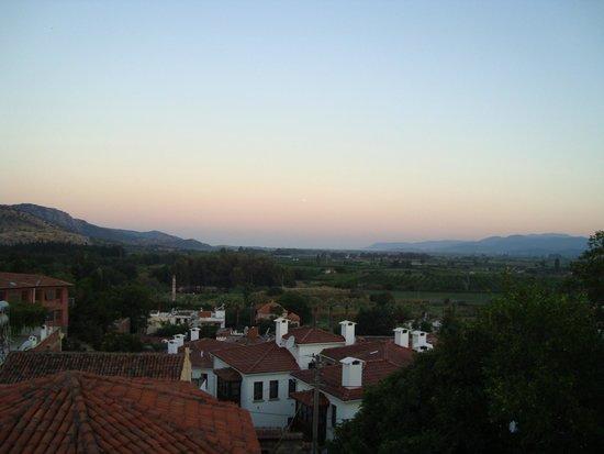 Homeros Pension & Guesthouse: Vue du toit, sur le temple d'Artemis et la mer au loin !