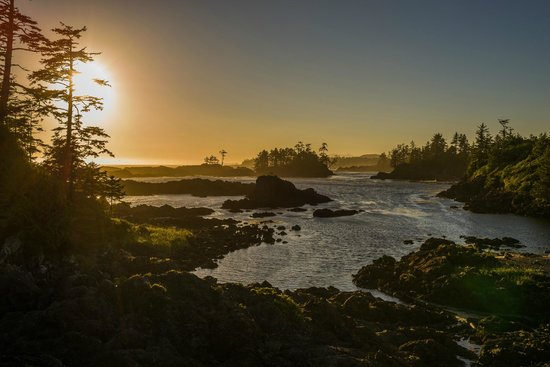 Reef Point Cottages: Wild Pacific Trail sunset