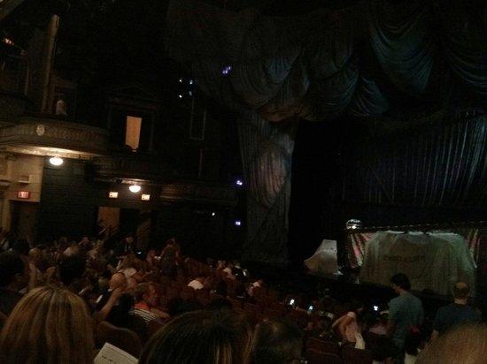 The Phantom of the Opera: Palco, antes do início do show.