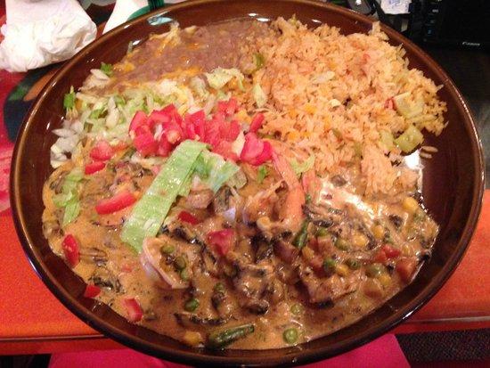Fiesta Mexicana: Shrimp in sauce