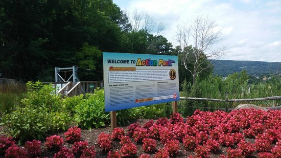 Mountain Creek Water Park: Entrance Sign with Safety Info
