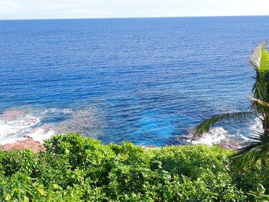 Scenic Matavai Resort Niue: matavai reef below the hotel