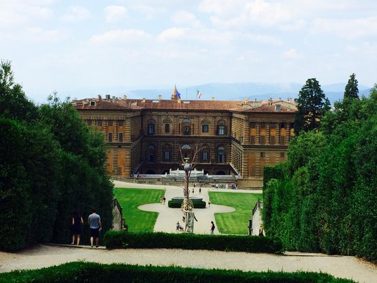 Palais Pitti : View from the gardens to the palace