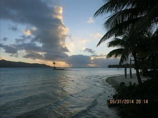 Four Seasons Resort Bora Bora: beautiful sky from front of hotel