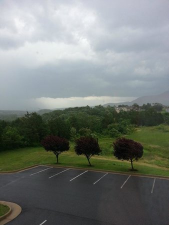 Ramada Strasburg: View from room during storm